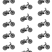 black and white bike print