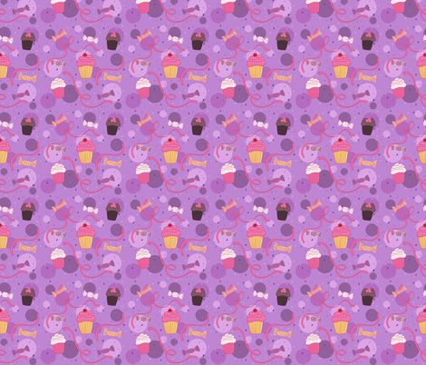 Cupcakes and Candy fabric by lindseysalles on Spoonflower - custom fabric