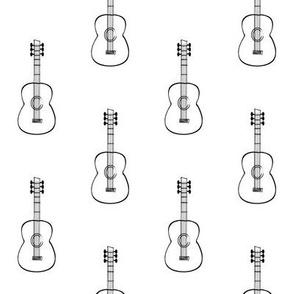 sketched guitar