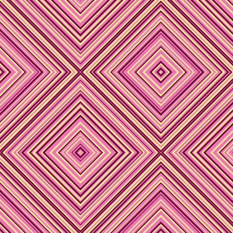 stripe diamonds-pink,yellow, burgundy fabric by anino on Spoonflower - custom fabric