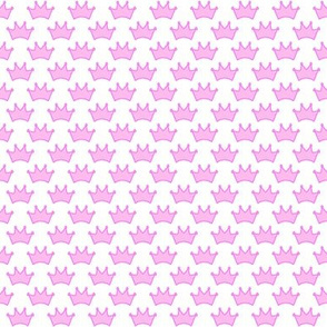 Pink Crown Fabric Wallpaper Gift Wrap Spoonflower