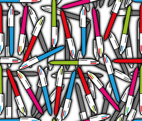 "Ball pen (ex ""I don't cook"") fabric by cassiopee on Spoonflower - custom fabric"