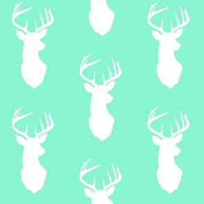 Minty Deer Fabric