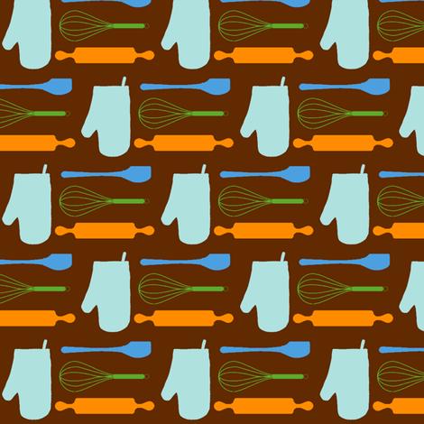 Medium Baking Utensils fabric by jenfur on Spoonflower - custom fabric