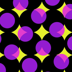 enormous halftone dots in Bob's colors