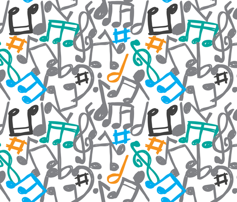 music_color fabric by mondebettina on Spoonflower - custom fabric