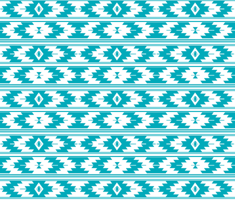 solid turquoise kilim fabric by ivieclothco on Spoonflower - custom fabric