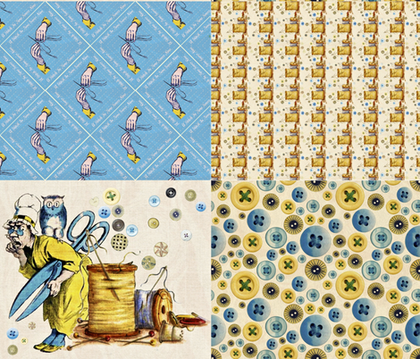 A Stitch In Time fabric by whimzwhirled on Spoonflower - custom fabric