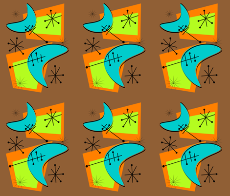 Atomic Boomerang fabric by hot4tees_bg@yahoo_com on Spoonflower - custom fabric