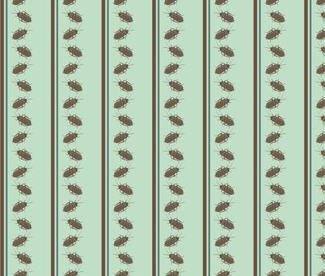 Cockroach Pinstripes fabric by murderbird on Spoonflower - custom fabric