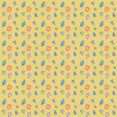 monsters-1a fabric by pamela_hamilton on Spoonflower - custom fabric