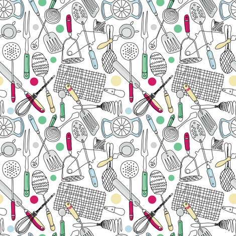 Essential Utensils fabric by dianne_annelli on Spoonflower - custom fabric