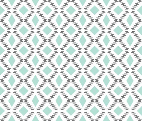 charcoal aqua diamond fall fabric by ivieclothco on Spoonflower - custom fabric