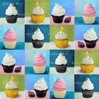 Painted Cupcakes 4""