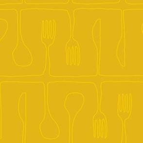 Mustard Utensils