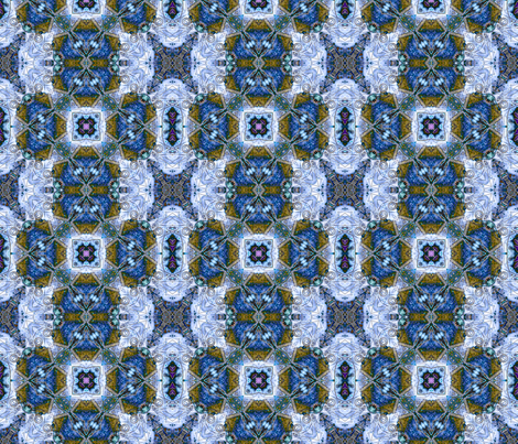 Blue Industrial Evolution3  fabric by koalalady on Spoonflower - custom fabric