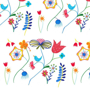 Stylized Flowers by ZoeyHeart