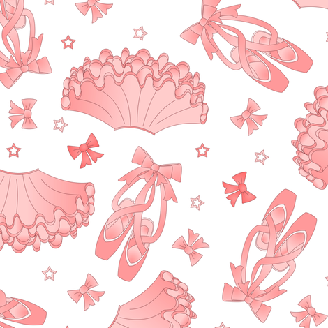 Ballet Star Pattern fabric by jannasalak on Spoonflower - custom fabric