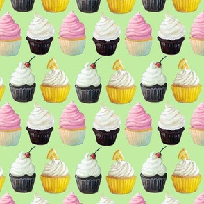 Little Cupcakes on Green
