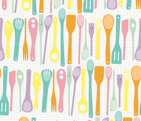 Candy Utensils fabric by majobv on Spoonflower - custom fabric