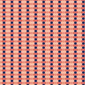 Coral Navy Hex NEW