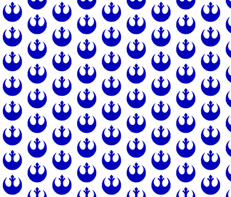 Blue Bird fabric by briekalan on Spoonflower - custom fabric
