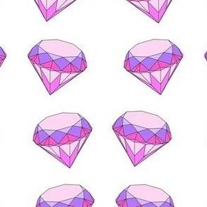diamond purple and pink