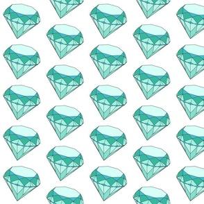 diamond large mint green