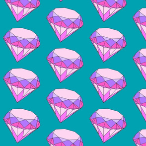 diamond in extra large pink and purple and teal background