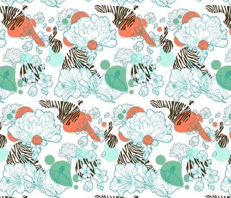 Surfing into the Jungle fabric by fanny-bonenfant on Spoonflower - custom fabric