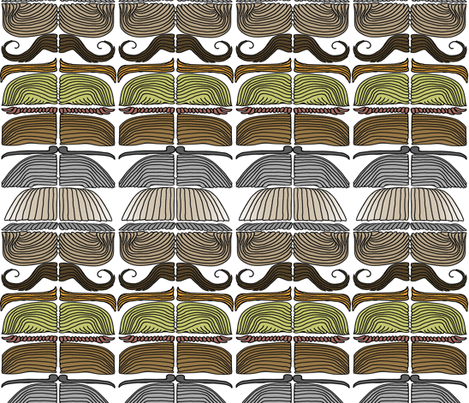 'stache Stack Chevrons fabric by wiccked on Spoonflower - custom fabric