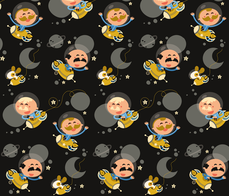 A Dutch Cosmic Voyage fabric by verycherry on Spoonflower - custom fabric