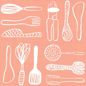 Cool Coral Utensils