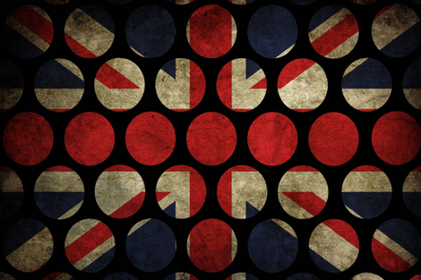 Grunge Union Flag Rounds fabric by janinez on Spoonflower - custom fabric