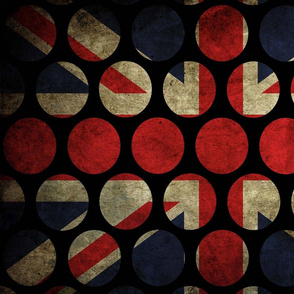Grunge Union Flag Rounds