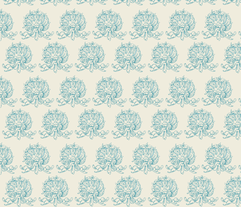 Vanilla blueberry fancy shells fabric by briarfield_designs on Spoonflower - custom fabric