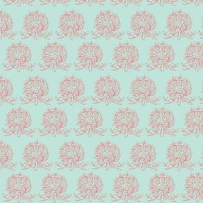 Aqua and pink fancy shells