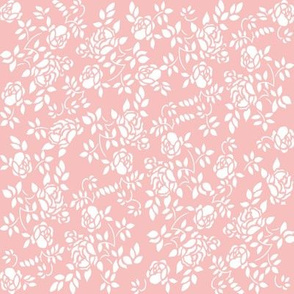 Elaine Rose Stencil in peony pink