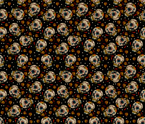 Sugar Skulls fabric by whimzwhirled on Spoonflower - custom fabric