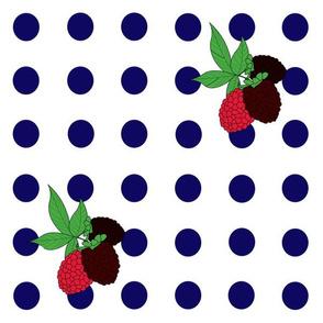 Blackberry Polka Dots
