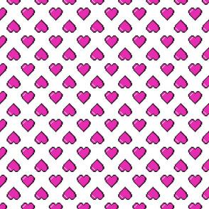 Pink Pixel Hearts