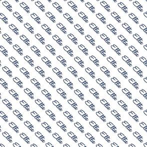 Diagonal Script Ellie