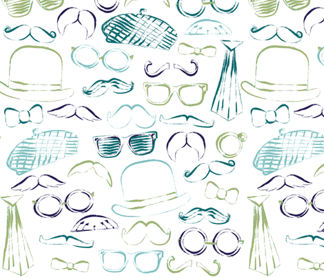 Mustache Costume fabric by jenflorentine on Spoonflower - custom fabric