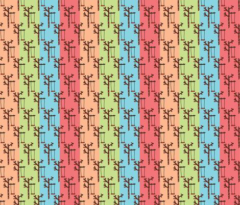 Swing Stripes fabric by anniedeb on Spoonflower - custom fabric