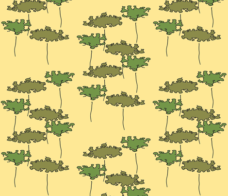 Two Trees 9 fabric by anniedeb on Spoonflower - custom fabric