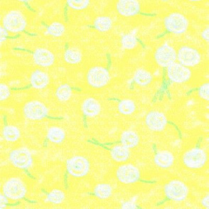 Crayon dandelions
