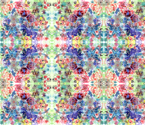floral_fantasy_ink_painting_FAA fabric by nerdlypainter on Spoonflower - custom fabric