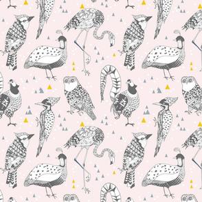 Geo Birds (in Blush + Gold)