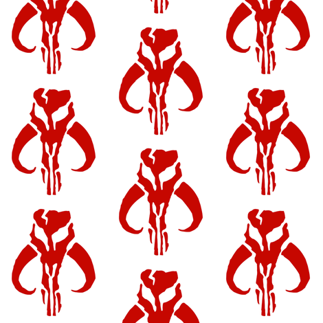 Skull of Red fabric by briekalan on Spoonflower - custom fabric