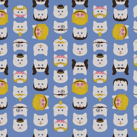 Catstache fabric by mandasisco on Spoonflower - custom fabric